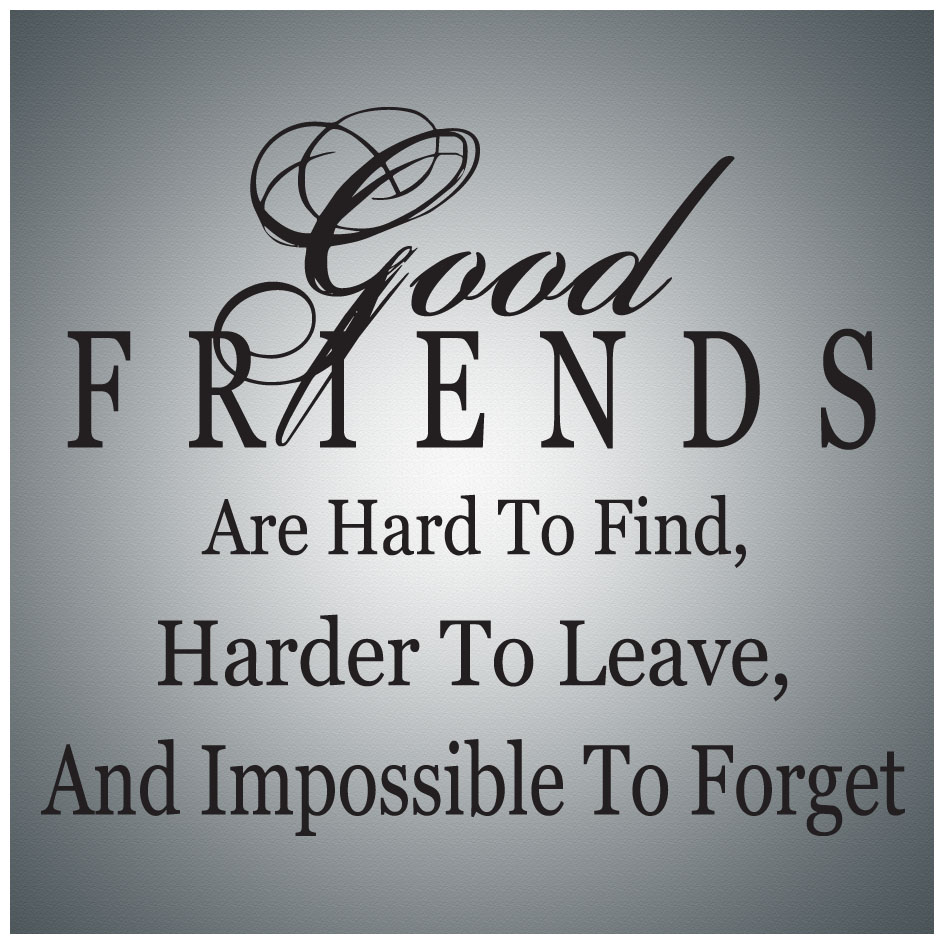 Good Friends Are Hard To Findwall Quote Decal Vinyl Lettering